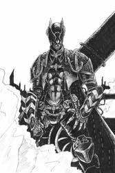 Steampunk Batman Linework by odingraphics