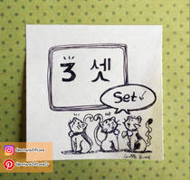 lets count in Korean! - 3! by CrystalC33