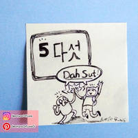 Let's Count in Korean - Five! by CrystalC33