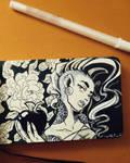 Inktober 2016 - Apple Girl Ink by CrystalC33