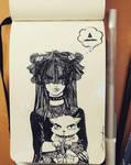 inktober 28 - goth witch? by CrystalC33