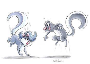 Fifi La Fume and Skunk Fu by CrystalC33