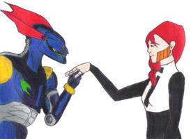 Megabyte and Jeane by marylizabetha