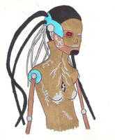 Metallic Robot by marylizabetha