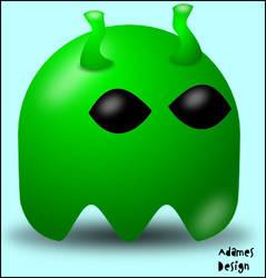 Pac-Man Alien by aneuris