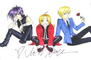 Ed, Dark and Tamaki by MangaX3me