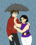 who holds the umbrella? by the-dragon-childe