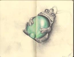 Moleskine Page 10 - Frog Pendant by otohime0394