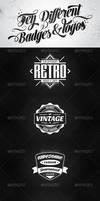 10 Retro badges and logos vol.2 by 4ustudio