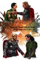 Thor and Loki by siquia
