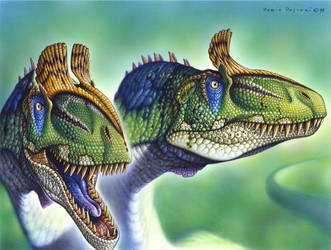 Cryolophosaurus ellioti by PaleoPastori