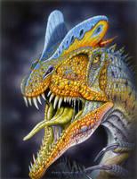 Dilophosaurus wetherilli by PaleoPastori