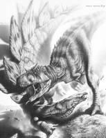 Carnotaurus vs Stegosaurus? by PaleoPastori