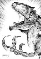 Megaraptor namunhuaiquii by PaleoPastori