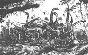 Evolution Sauropods by PaleoPastori