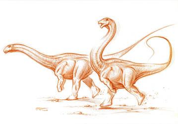 'Speedy' the Sauropod by PaleoPastori