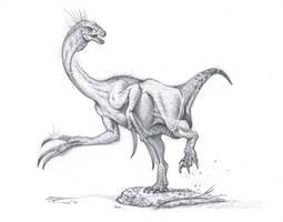 Therizinosaurus cheloniformis by PaleoPastori