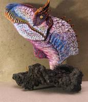 New Feathered Cryolophosaurus ellioti bust by PaleoPastori