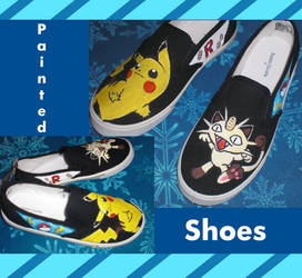 Pokemon shoes by CL-Pinkskull