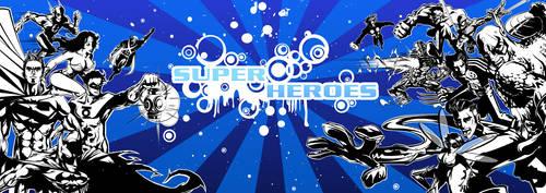 Superheroes DC vs Marvel by timwork