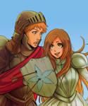 Sword and shield by batemeuma