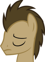 Sad Doctor Whooves Vector by hombre0