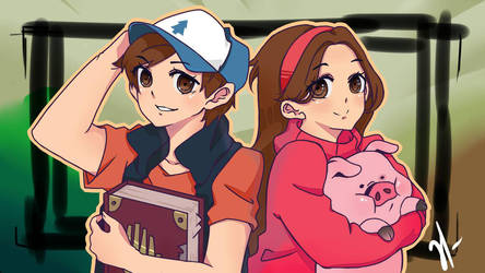 Mystery Twins Fanart by Dangaso