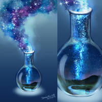 Magic flask GALAXY by DreamThestral