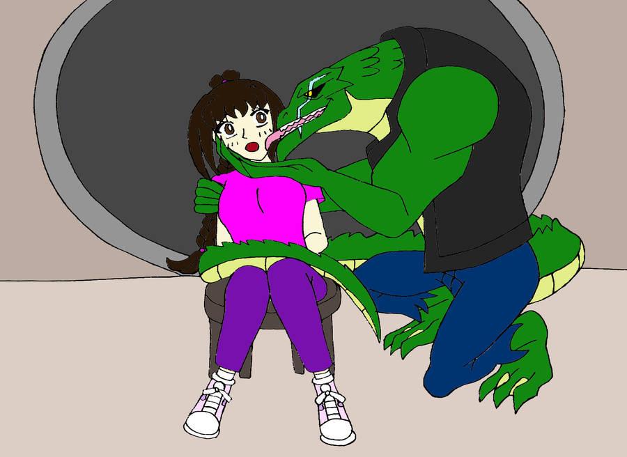 Killer Croc Kidnapped Samantha By Sammychan816 On Deviantart