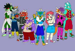 XDragoon Characters by sammychan816