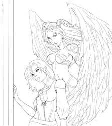 Aenwynn and Schala by silveryfox