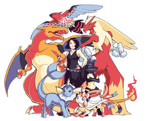 Pokemon Team Commission 2 by H0lyhandgrenade