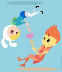 Flame prince and Fionna (Adventure Time) by kokioky