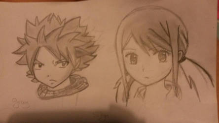Natsu and Lucy by mwh2000