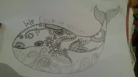 half finished whale by mwh2000