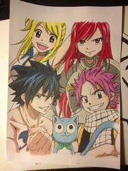 Fairy Tail Gang by Karina-o-e