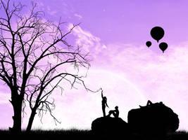 Purple Sky by st3to
