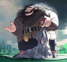 Hagrid and Fang by Ramonn90