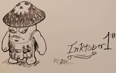 Poisonous-Shroom: [Day 1 of Inktober] by LoverofArtwork