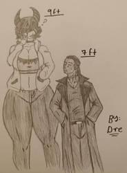 An Immortal Tall Man Met A Sadists Goddes by LoverofArtwork