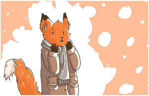 fox snow time by mily066