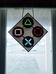 Playstation stained glass by cellocalypse