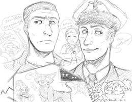 Nazi Zombie sketch dump by Cain-Wright