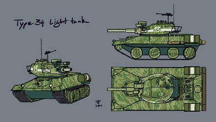 Type 34 Light Tank by Pyrosity