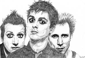 Green Day - ballpoint pen by LineVenie