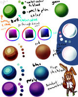 Coloring Refrence Sheet for sai by Emmamsdraws