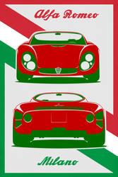 Alfa Romeo 33 Stradale Poster by EvolveKonceptz