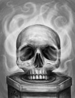Screaming Skull by Sheblackdragon