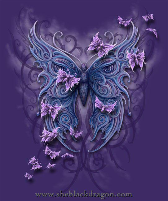 Butterfly tribal by Sheblackdragon