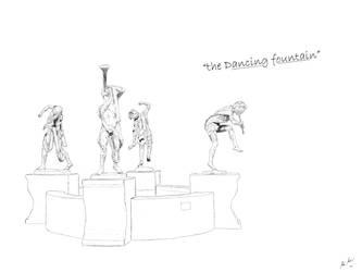 Dancing fountain sketch by Nialthstrasz